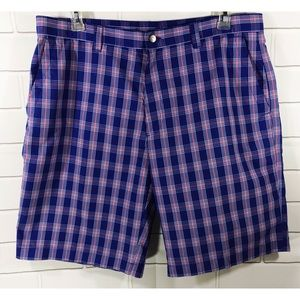 Callaway Golf Plaid Bermuda Flat Front Shorts